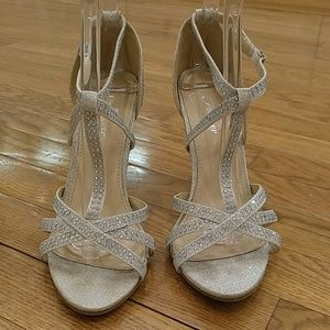 FOREVER RHINESTONE WRAPPED STRAPPY HEELS 7